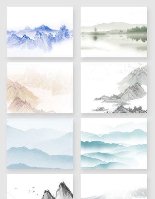 中国水墨山水画风景素材