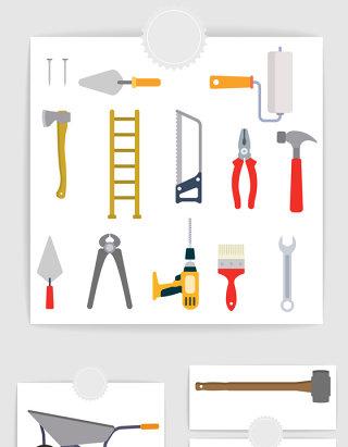 矢量扁平化建筑工具