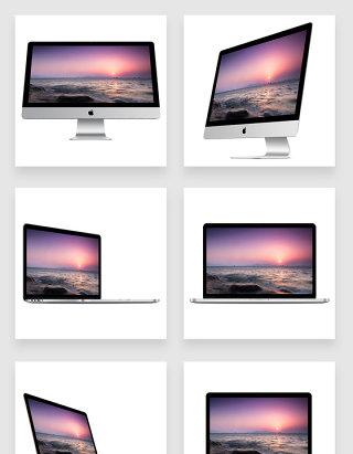 多角度多方向苹果电脑+苹果笔记本电脑样机