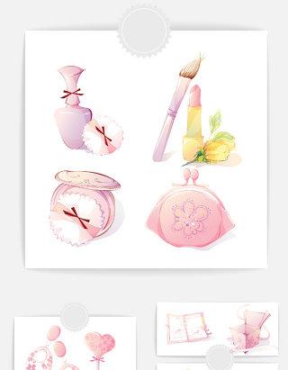 女生化妆品设计素材