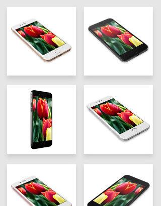 多角度展示苹果智能手机实体产品贴图样机