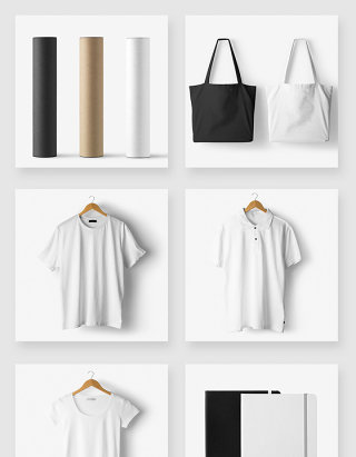 服饰品牌VI设计空白样机模板素材