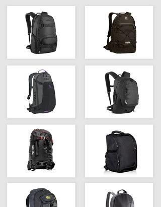 高清免抠黑色背包素材