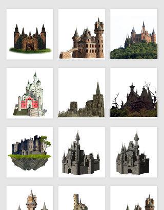高清免抠中世纪城堡素材