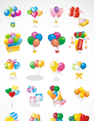 节日气球矢量图形图标