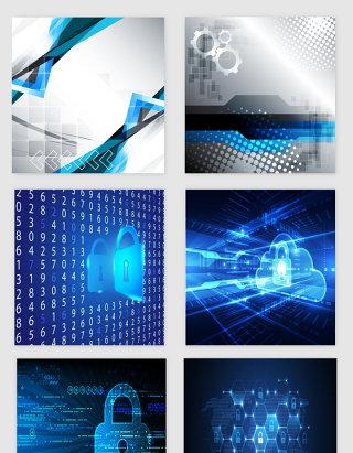 蓝色高科技科幻抽象设计