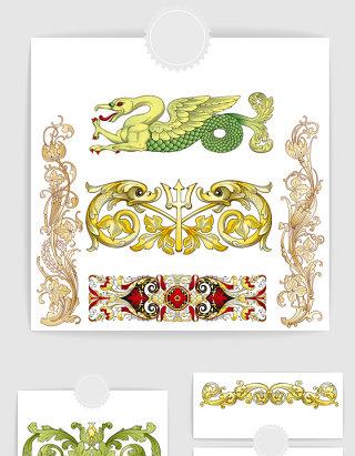 矢量欧式复古装饰图案边框