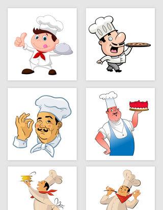 卡通风格厨师矢量素材