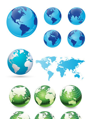 创意地球矢量素材