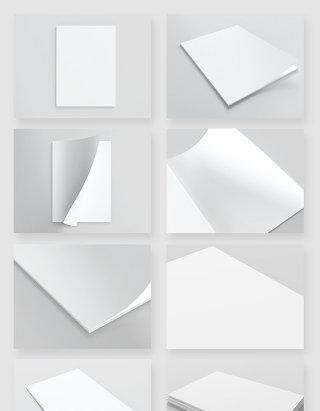 空白画册书刊设计模板贴图样机素材