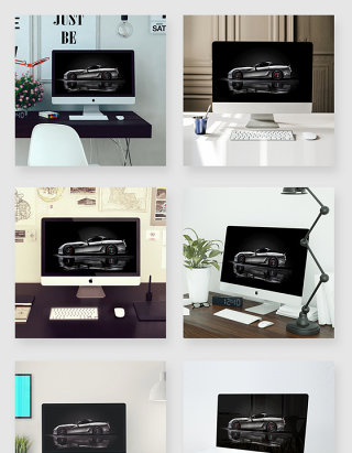 室内多应用场景下苹果台式一体机电脑样机