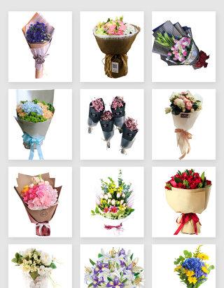 美丽的情人节鲜花花束素材