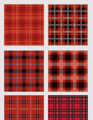 红色布纹纹理设计