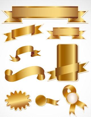 金色标贴矢量图形