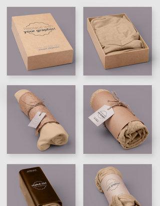服装品牌产品包装设计智能贴图样机素材