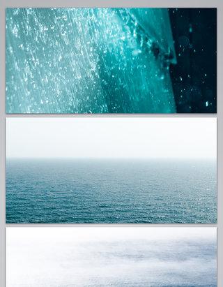 大海水波水波涟漪