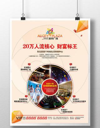 房地产商业住宅综合体海报宣传单页设计