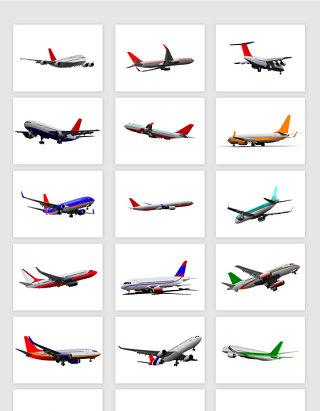 矢量高清航空飞机元素