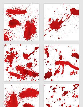 红色飞溅墨水矢量素材