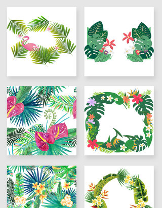 棕榈叶png设计素材