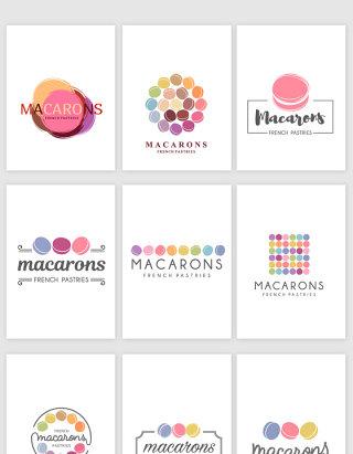 马卡龙甜品店标志设计