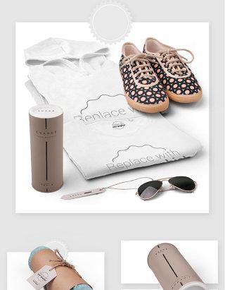 时尚服装品牌产品设计贴图样机素材