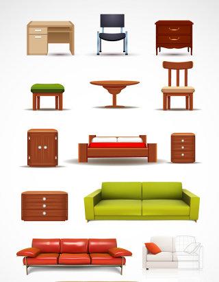 家具沙发矢量素材