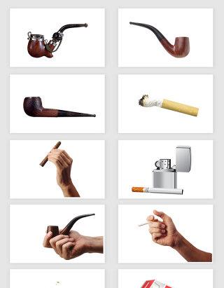 高清免抠抽烟香烟烟斗
