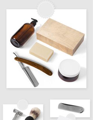 美容理发店品牌产品设计贴图素材