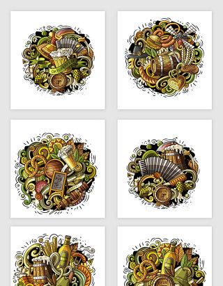 手绘食物插画矢量设计