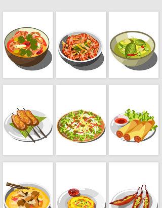 卡通餐饮行业美食食物矢量素材