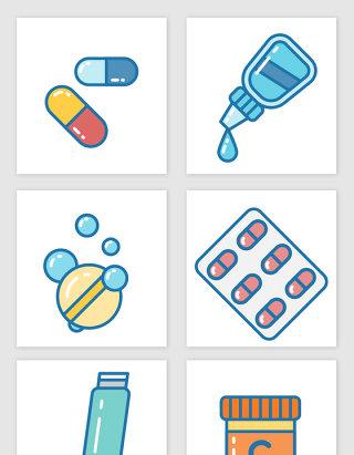 卡通药物设计元素
