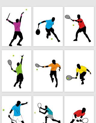 运动打网球健康活动