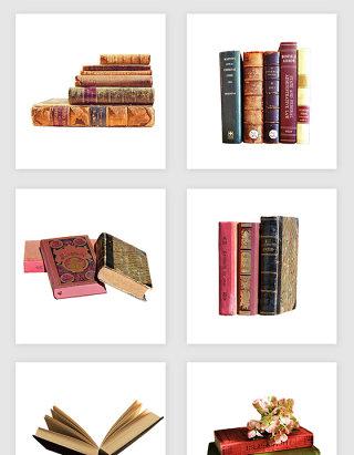 高清免抠复古书本素材