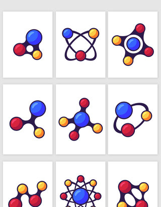 科技线条分子结构矢量素材