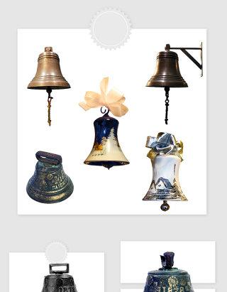 高清免抠欧式复古铃铛