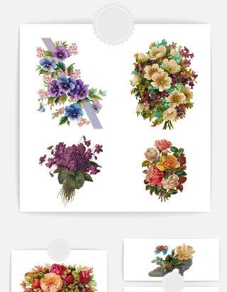 森系复古欧式花饰