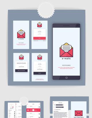 手机办公邮箱软件APP界面UI设计素材