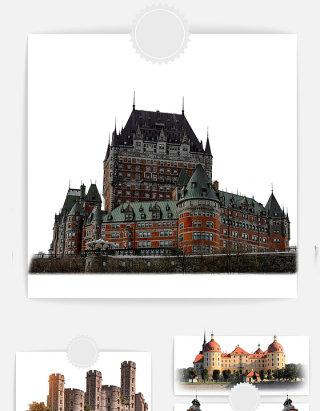 古堡欧洲古建筑元素