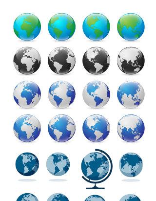创意地球矢量元素素材