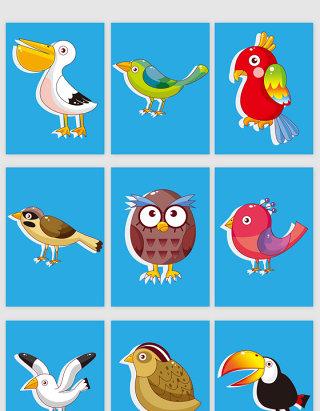 卡通小动物矢量图形