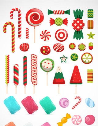 七彩糖果图标图形