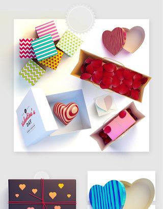 情人节节日生日礼物盒子玫瑰花瓣盒子实物图