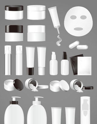 女人化妆品模型矢量图形图标