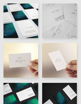 企业名片设计展示贴图样机模板素材