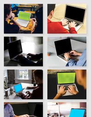 苹果笔记本电脑办公应用场景智能贴图样机