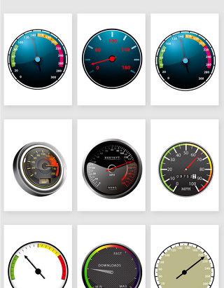 汽车仪表盘显示屏设计素材