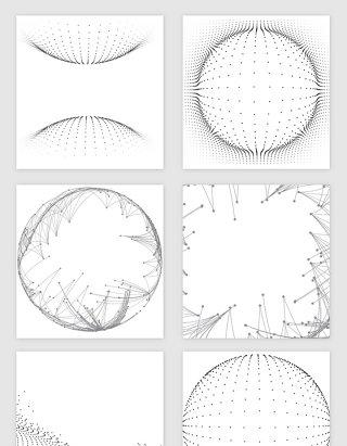 点线几何科技矢量素材