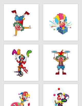 愚人节小丑表演素材