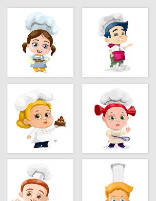 矢量Q版可爱卡通厨师